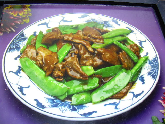 Beef and Snow Peas in Oyster Sauce