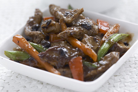 Beef with Spicy Black Bean Sauce