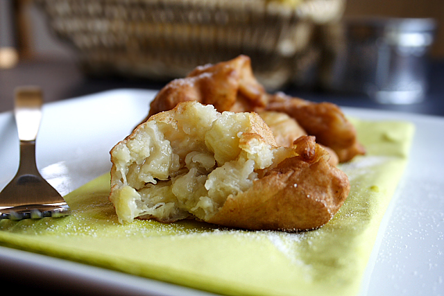 Candied Banana Fritters