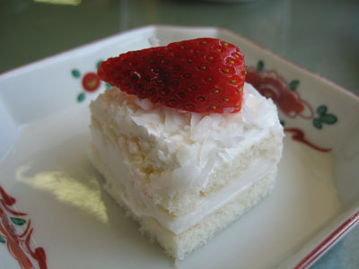 Sponge Cake With Coconut Icing