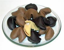 5 Minute Chocolate Dipped Fortune Cookies