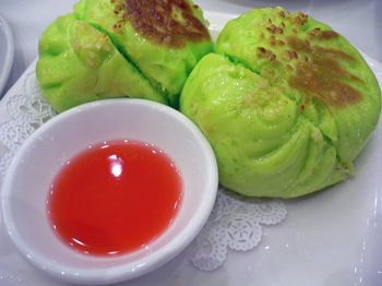Sweet and Sour Sauce with Green Tea Buns